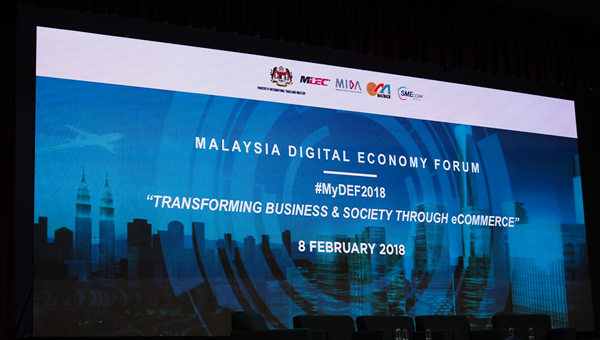 MALAYSIA DIGITAL ECONOMY FORUM Opening screen